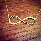 infinity necklace family names child mother necklace forever 18k gold plated 2