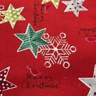 CHRISTMAS Xmas Heavy Poly Cotton Fabric 140cm wide CD59