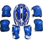 7Pcs Kid Boys Girls Skate Cycling Bike Safety Helmet Knee Elbow Pad Set One Size