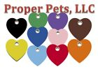plastic dog tag heart pick size