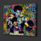 MUHAMMAD ALI ICONIC BOXER ACRYLIC COLOURFUL WALL ART PICTURE CANVAS PRINT