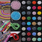 Wholesale 200pcs 6mm Bicone Faceted Crystal Glass Loose Spacer Beads (165Colors)