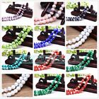20pcs 12mm Round Glass Charms Stripe Lampwork Loose Spacer Beads DIY Jewelry