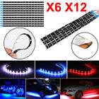 6/12-Pack Waterproof Flexible DC12V LED Strip Underbody Light for Car Motorcycle