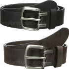 "Dickies Leather Belt Mens Approx. 1.5"" Screw Logo Leather Belt Black Or Brown"