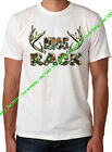 New MOSSY OAK NICE RACK White T-Shirt funny camo beast cancer hunting camping