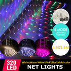8 Modes 320 LED Mesh Net Lights String Fairy Xmas Wedding Outdoor Party Decor