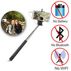 Wired Extendable Handheld Selfie Stick Monopod For iPhone iOS Android Phone LG