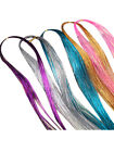 Women Multi Color Long Straight Synthetic Clip in on Hair Extensions Girls