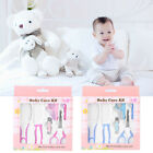 6Pcs Newborn Baby Nail Hair Health Care Thermometer Grooming Brush Kit Pink/Blue