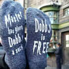 Unisex &quot;Harry Potter Dobby Socks, Master has given Dobby a sock, Dobby is free&quot; <br/> Buy 3 Get 1 FREE ** LIMITED PROMOTION**Fast &amp;Free