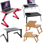 Foldable Laptop Table Tray Desk Portable Notebook PC Sofa Bed Stand Workstation