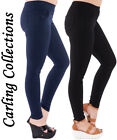 New Womens Ladies Girls Elastic Waisted Stretchy Legging Jegging Skinny Trousers