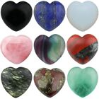 Carved Puff Heart Love Worry Stone Healing Palm Pocket Crystal Reiki Chakra 0.8""