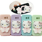 For Various Phone Case Cover Cute3D Hello Kitty Cartoon Cat Mirror Soft Silicone