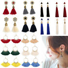 Women Fashion Bohemian Studs Earrings Ear Drop Boho Long Tassel Dangle Jewellery