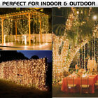 3X3M 300 Led Curtain Fairy String Lights Wedding Outdoor Christmas Garden Party
