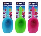 Dog Food Scoop Pet Cat Dry Food Shovel Puppy Treats Pack of 2 Plastic Spoons
