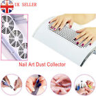 220V Nail Art Dust Suction Collector 3 Fans Vacuum Cleaner Manicure Machine UK