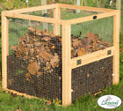 Premium Wire Mesh Compost Bin with Door by Lacewing™ Aeration Wood Garden Leafs