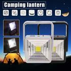 COB LED Camping Lantern USB Solar Power Lamp Rechargeable Hiking Emergency Light