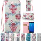 Painted Flip Leather Card Stand Case Wallet Cover For Samsung S8 Note8 LG Huawei