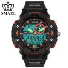 Mens LED Watches Dual Time Sports Analog Digital Hours Electronic Wrist Watches