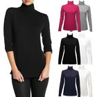 2pk Felina Women's Long Sleeve Turtlenecks Soft Cotton Blend Shirts Ladies Top