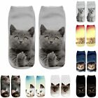 Christmas Funny Girls Casual Socks 3D Cat Printed Anklet Xmas Short Socks