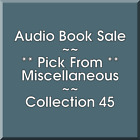 Audio Book Sale: Miscellaneous (45) - Pick what you want to save