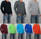 New 2018 HOLLISTER By Abercrombie Men Iconic V neck and Crew Sweater Sweatshirt