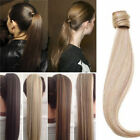 Silk Straight Wrap- Ponytail 100% Real Remy Human Hair Ponytail Extensions 80g