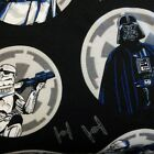 Star Wars Rogue One Darth Vader Black Brushed Cotton Fabric, per FQ 110cm £8.5 GBP