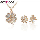 Fashion Women Jewelry Pendant Crystal Choker Chain Necklace Lucky Clover