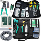 RJ45 Network Ethernet Lan Kit Cable Tester Crimping Tool Crimper Stripper Lot