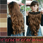 Uk Mega Thick Clip In on Hair Extensions One Piece Straight Curly Wavy As Human