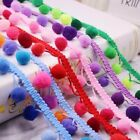 Colorful 2 Yards Pom Pom Bobble Ball Trim Fringe Ribbon Sewing Accessory Lace