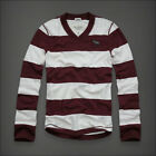 Abercrombie Fitch Men Sentinel Range Stripe Polo Rugby Long Sleeve Shirt M, L