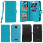 multi cases - For Motorola Moto Z Droid Edition Multi Card Slots Wallet Cover Case With Strap