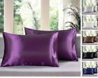 (Set of 2) - Solid Soft Charmeuse Satin Pillow Cases - Queen/King image