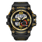 Mens Sports Watches Dual Time Outdoor Sport Digital Analog Casual Waterproof LED
