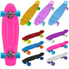 "22"" Mini Cruiser Complete Skateboard Deck Skate PU Wheels Retro Kids Penny Board"