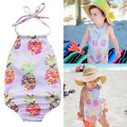 US Stock Newborn Baby Girl Swimwear Bikini Bathing Purple Powder Clothes Outfits