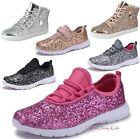silver shoes kids - Fashion Youth Kids Girls Sequins Glitter Sneakers Lace Up Tennis Shoes High Top