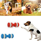 Rubber Dumbbell Design Pet Chew Toy Puppy Dog Teeth Gum Cleaning Play Toys S/L