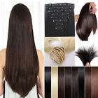 Long Full Head Hair Extensions human feel Synthetic hair brown Blonde Red Ginger