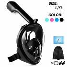 Swimming Full Face Mask Surface Diving Snorkel Scuba for GoPro S/M/L/XL UK STOCK