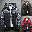 Men Slim Stand Collar Jackets Fashion Sweatshirt Jacket Tops Casual Coat Outwear