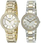 Fossil Women's Virginia Gold or Two Tone Stainless Steel Watch - Choice of Color image