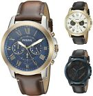 Fossil Men's Grant 44mm Chronograph Leather Watch - Choice of Color image
